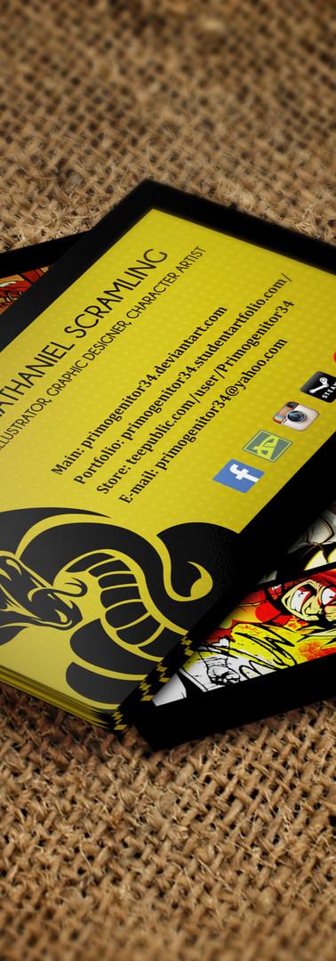 Primogenitor34 Business Cards Mockup