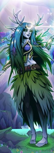 Night Elf Druid (DnD Commission)