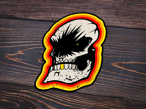 Angry Skull Sticker