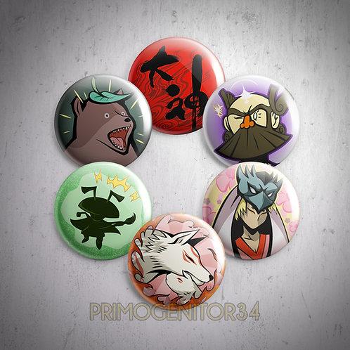 Okami Button Set