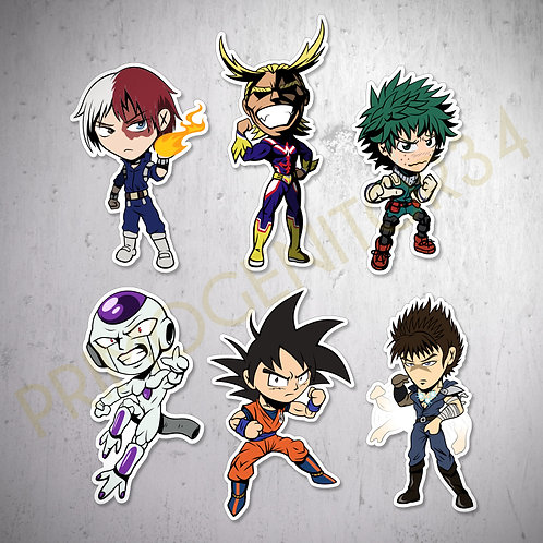 Shounen Anime Sticker Set 1