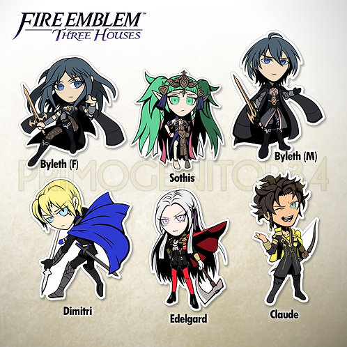 Fire Emblem Three Houses Cast Stickers