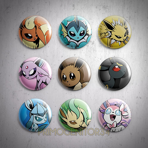 Eeveelutions Button Set