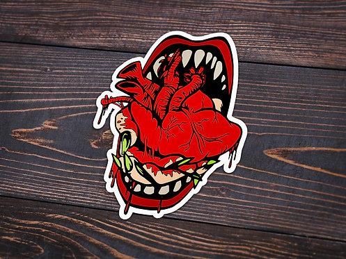 Feast on your Heart Sticker