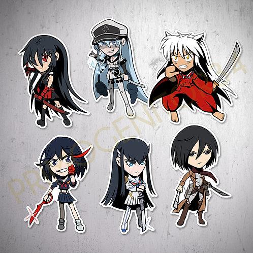 Shounen Anime Sticker Set 2