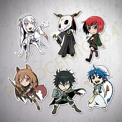 Fantasy Anime Sticker Set 1