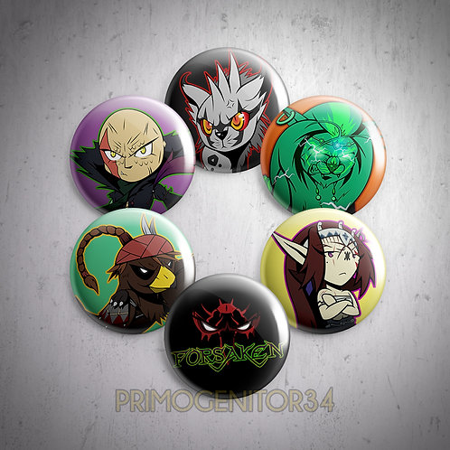 FORSAKEN Button Set