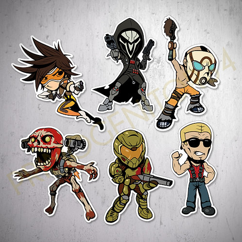 Shooter Games Sticker Set