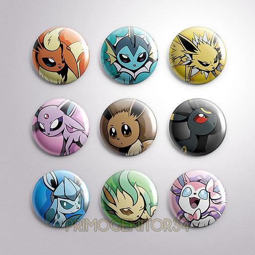 Eeveelutions Button Pack