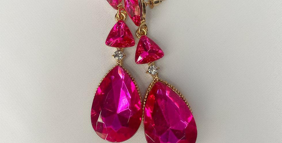 Candy Drop earrings- Hot Piink