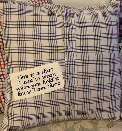 Memory Pillow- with Embroidered Poem