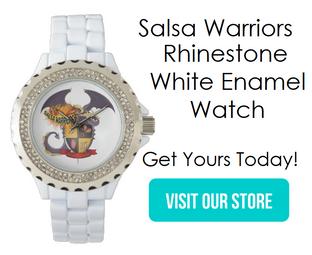 Rhinestone White Enamel Watch