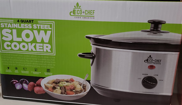 ECO Chef Slow Cooker 4 Qt. (Unopened)