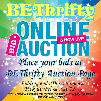 Online Live Auction Ends Thurs 6 pm est