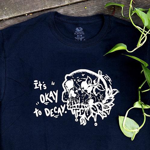 Decay Skull Shirt - Silver Chrome