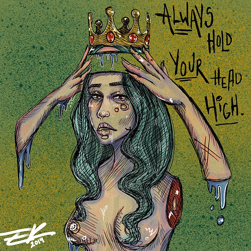 Fix Your Crown (8x8 Print)