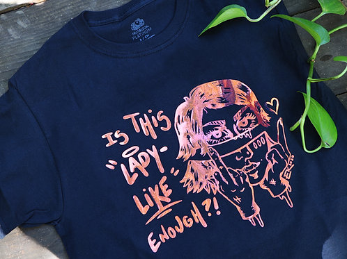 Lady Like Shirt - Pink to Blue Color shift