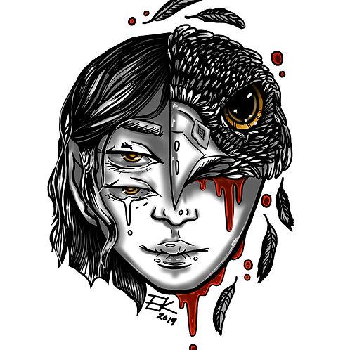 Falcon Woman (8x10 Print)