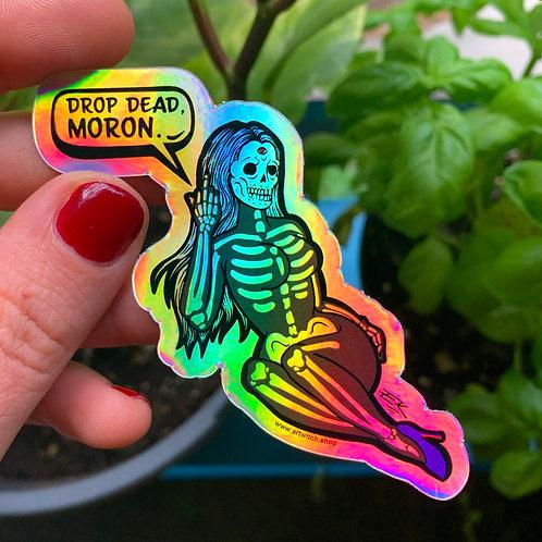 Skull Babe Holographic Sticker