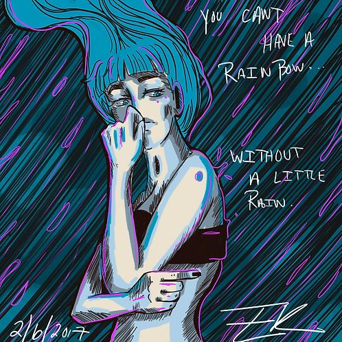 A Little Rain (8x8 Print)