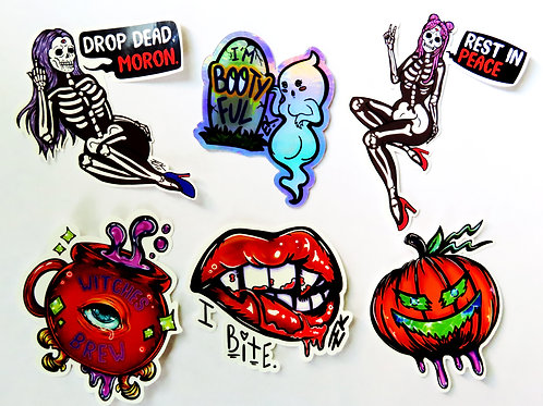Sticker 6 pack - Halloween 2020