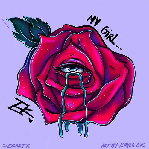 My Girl, My Rose (8x8 Print)