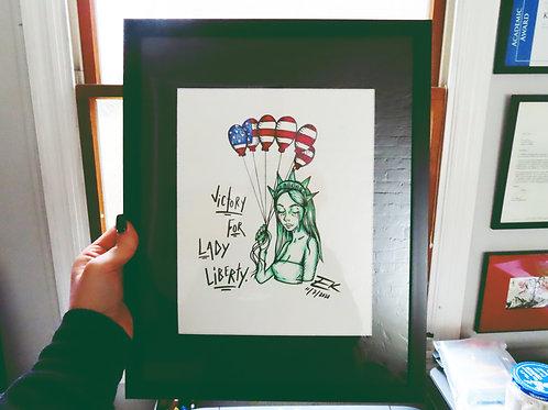 Lady Liberty - Original Sketch