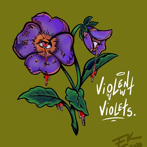 Violent Violets (8x8 Print)