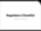Regulatory Checklist - Childcare as a Pl