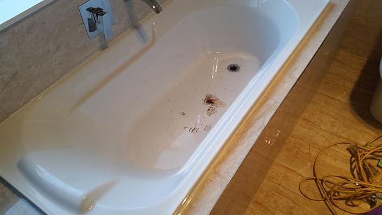 Bath repair, damaged bath, burn bath