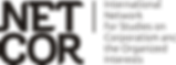 NETCOR logo sigla e nome horizontal blac