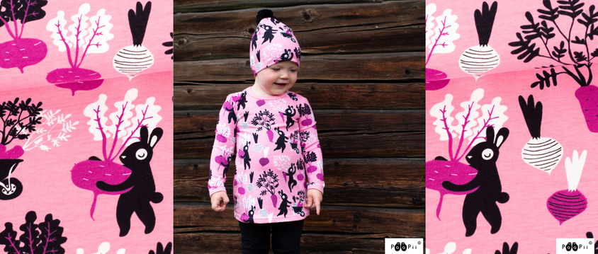 Harvest Dance Organic Jersey in Pink and Purple