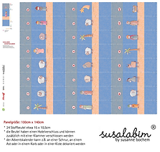 Lillestoff Susalabim's Krippenspiel Advent Calendar Blue Nativity Play Advent