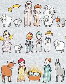 Lillestoff Krippenspiel Nativity Play Christmas Fabric Cotton Lycra Jersey