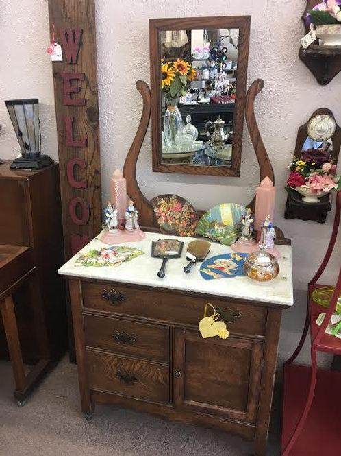 Vintage Wood Vanity Dresser