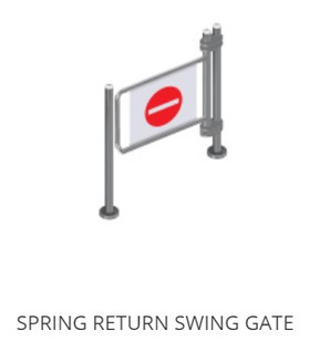 Spring Return Gate
