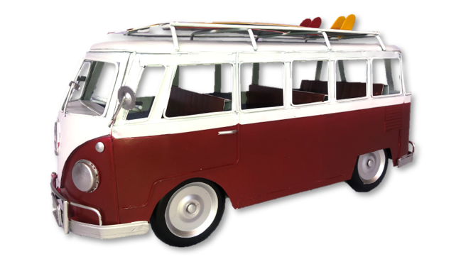 Mini Bus with Surfboards