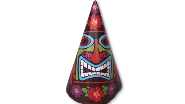 Tiki Face - Paper Party Hat