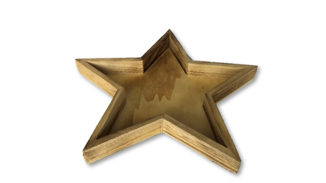Wooden Star Tray