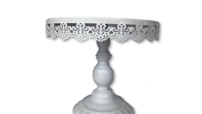 White Decorative Cake Stand - Large