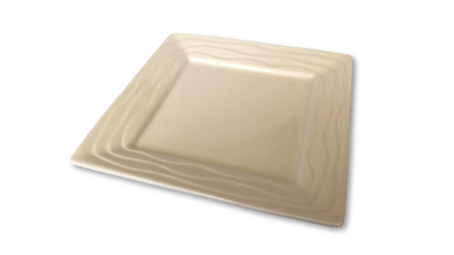 Ceramic Dish - Square Wavy