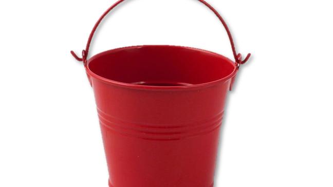 Metal Tin Pot - Red