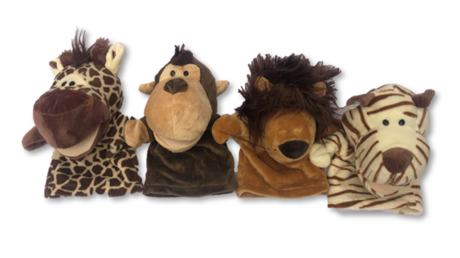 Soft Toy - Jungle Friends Hand Puppets