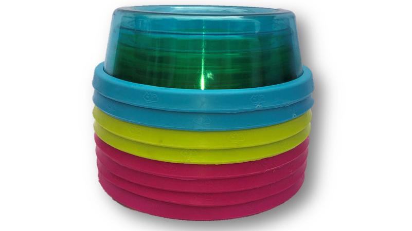 Plastic Dog Bowls - Coloured