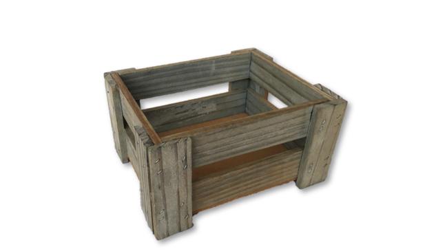 Wooden Crates - Grey