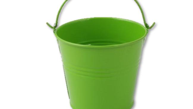 Metal Tin Pot - Green