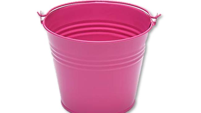 Tin Bucket - Pink