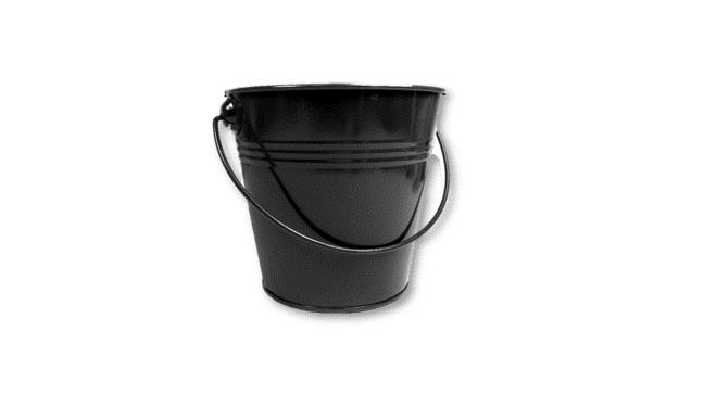 Mini Metal Tin Pot - Black