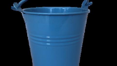 Tin Bucket - Blue