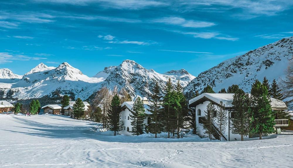 Snowy village of Arosa | Switzerland | Schweizer Berge